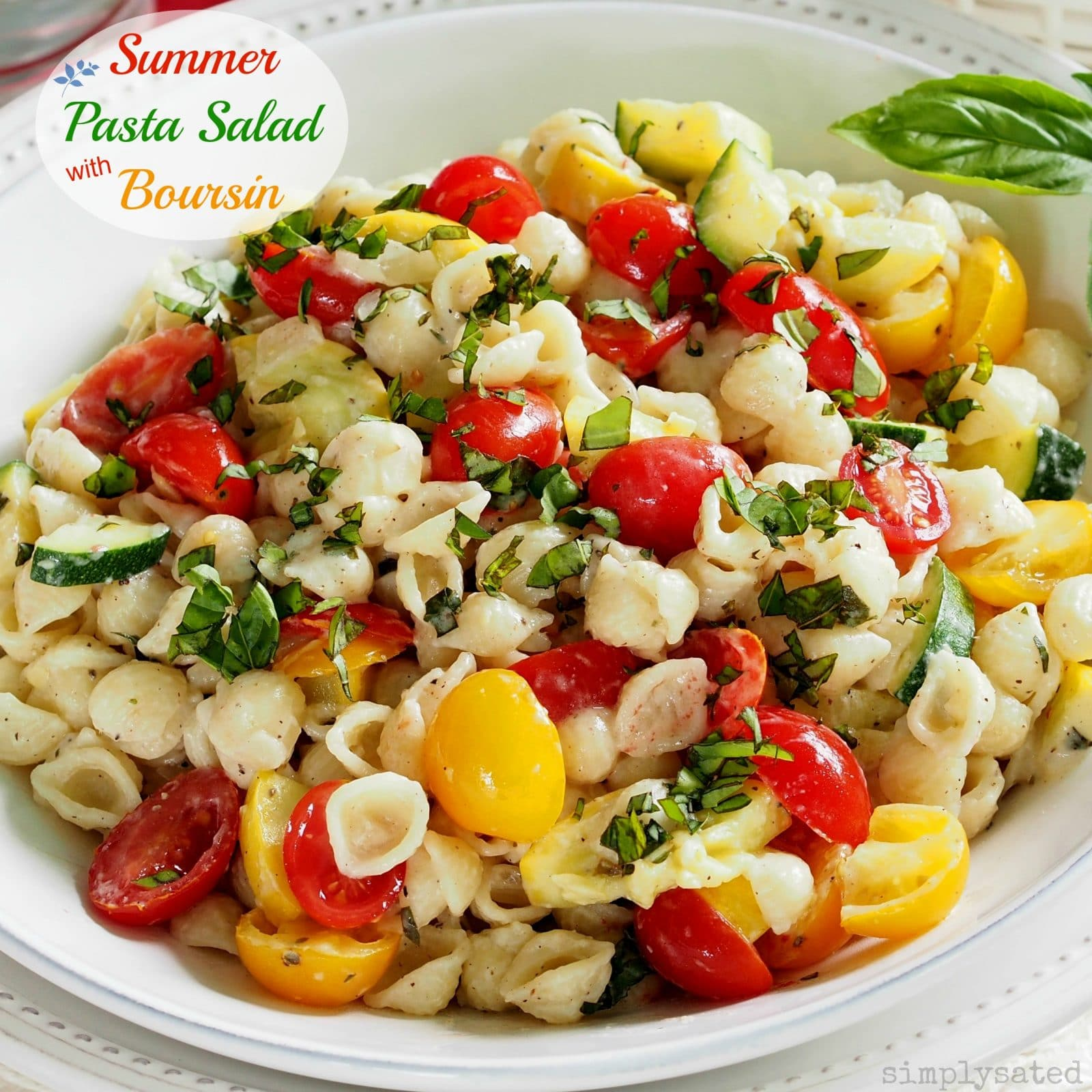 Summer Pasta Salad With Boursin Is A Flavor Packed Including Zucchini Yellow